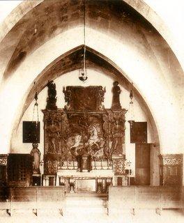 Interior de l'antic oratori de Sant Jordi (segles XIII-XIV)