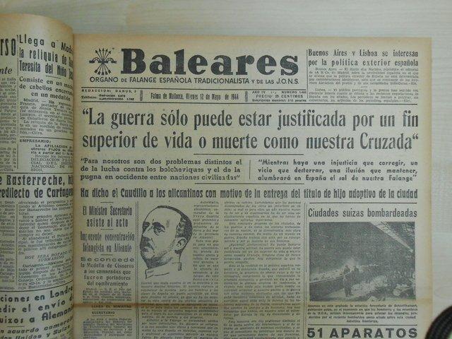 Portada Baleares 12 de maig de 1944