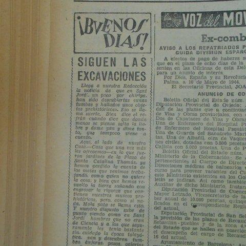 Titular article sobre Cas Quitxero